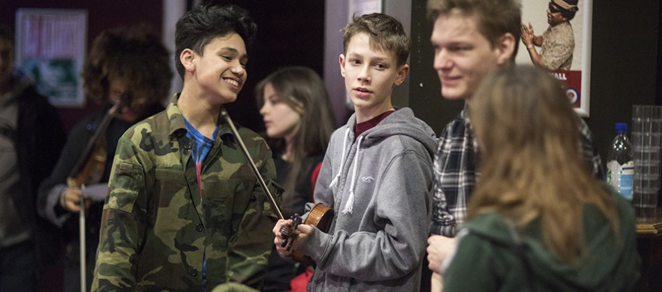 Young musicians take a lead