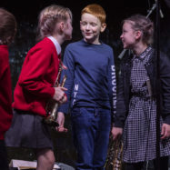 Young musicians smiling