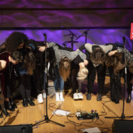Group of musicians bowing